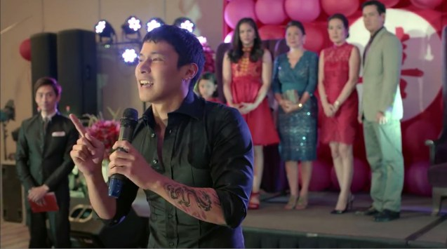 foreground: Enchong Deee (Son son), behind him from right: Richard Yap (Wilson Sr), Jean Garcia (Debbie), Rebecca Chuaunsu (Ama), Janella Salvador (Carol) & Jana Agoncillo (Shobe). MANOPO 7: CHINOY opened last December 14, 2016 at a mall near you.