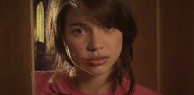 Rhian Ramos (Sally) was a victim of abuse in the story. Catch MMFF 2016 entry SAVING SALLY in Resort's World Manila Cinemas, Eastwood City Mall Cinemas and Shang Cineplex.