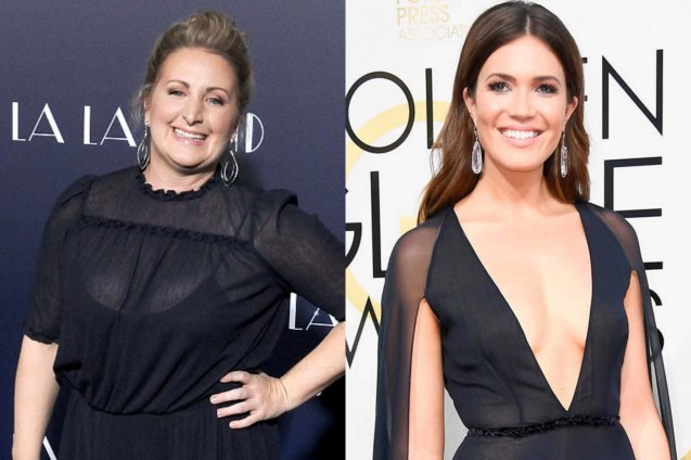 Choreographer Mandy Moore (left) was mistaken for her namesake during a speech for Pop star and actress Mandy Moore (right). Watch LA LA LAND in Shang Cineplex, Shang Rila Plaza Mall, Resort's World Manila, Lucky Chinatown Mall, Venice Piazza Mall and Eastwood City Mall.