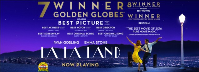 LA LA LAND broke the record for most Golden Globes win with 7 awards. Watch LA LA LAND in Shang Cineplex, Shang Rila Plaza Mall, Resort's World Manila, Lucky Chinatown Mall, Venice Piazza Mall and Eastwood City Mall.
