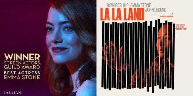 Emma Stone (Mia); Watch LA LA LAND in Shang Cineplex, Shang Rila Plaza Mall, Resort's World Manila, Lucky Chinatown Mall, Venice Piazza Mall and Eastwood City Mall.